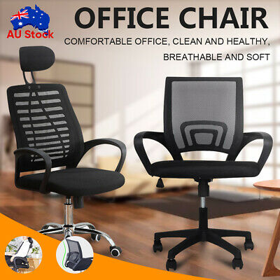AU47.99 • Buy Gaming Chair Office Chair Ergonomic Computer Mesh Desk Chairs Executive Black