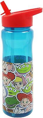 Toy Story Water Bottle 600ml Kids Flip Up Straw Drinks Holder Official Disney • 7.49£