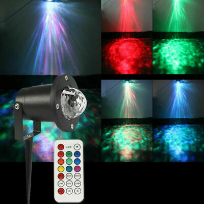 AU29.99 • Buy Outdoor Remote LED Water Wave Lights Ripple Effect Stage Laser Projector Lamp AU