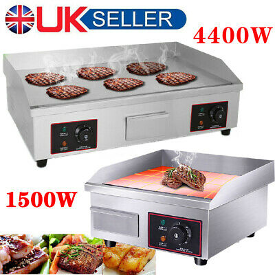 Commercial Electric Griddle Kitchen Hotplate BBQ Grill Large Countertop Plancha • 139.89£