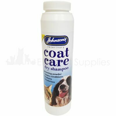 Johnson's Coat Care Dry Shampoo For Cats Dogs - Easy To Use Powder 85g • 5.45£