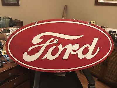 $ CDN397.76 • Buy Large Ford Tractor Double Sided Porcelain Sign