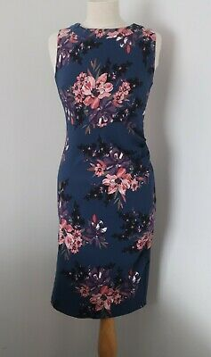 AU20 • Buy New Look Brand Apricot, Blue Pink Floral Midi Dress, Size 12 M, Cocktail ASOS