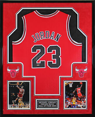 AU20666.48 • Buy Bulls Michael Jordan Authentic Signed Red Framed Jersey UDA #BAH09117
