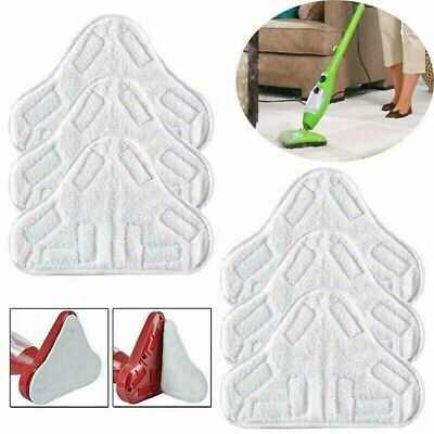 Pack Of 6 Set Steam Mop Hard Floor Microfibre Cleaning Pads Covers For Vax S2 UK • 7.13£