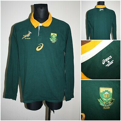 ASICS Men's Size XLARGE Long Sleeve SOUTH AFRICA Rugby Shirt / T-shirt • 2.99£