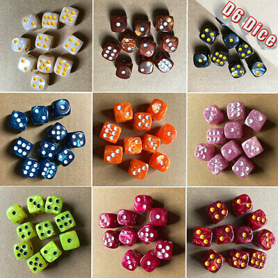 AU3.79 • Buy 10Pcs 6 Sided 16mm D6 Dice For DND Table Board Games Family Party Toys Set