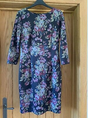 Ladies Floral Day Dress Size 10/12 • 2£