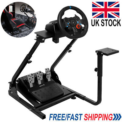 Racing Simulator Steering Wheel Stand Gaming For Logitech G29 G27 G25 T300RS UK • 42.79£