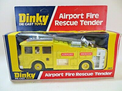 £42.99 • Buy Dinky 263 'erf Airport Fire Rescue Tender/engine' Yellow. Superb/boxed