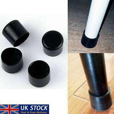 4pcs Chair Leg Cap Rubber Feet Protector Pads Furniture Table Covers Round UK • 3.33£