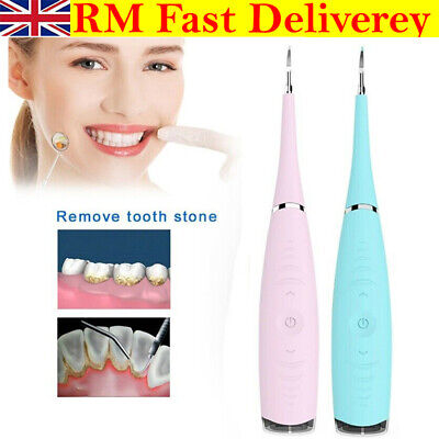 Electric Sonic Dental Scaler Tartar Calculus Plaque Remover Teeth Stains Cleaner • 7.99£