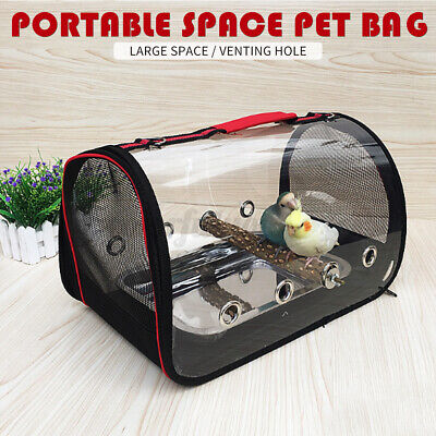 Portable Pet Parrot Bird Carry Backpack Breathable Cage Travel Mesh Bag Outdoo • 27.38£