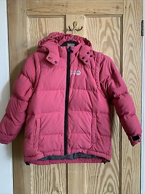 SPOTTY OTTER DOWN FILLED PUFFER JACKET AGE  7-8 YEARS Winter Coat Pink • 10£