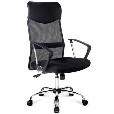 AU86.68 • Buy Artiss Office Chair Computer PU Leather Mesh Chairs Executive High Back Black