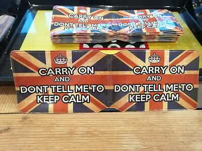 £1 • Buy Keep Calm BUS PASS CREDIT TRAVEL RAIL SLIM ID HOLDER WALLET FOR OYSTER CARD