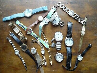 A Job Lot Bundle Of Assorted Watches - Rotary Citizen And Benmore 17 Jewel Etc • 4.99£
