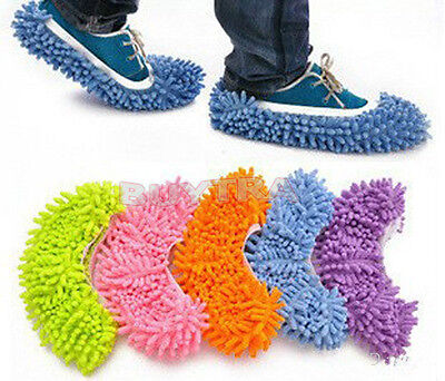 House Floor Foot Sock Shoe Mop Lazy Slipper Easily Polishing Cleaning Dust Be • 4.50£