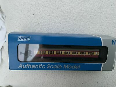 Dapol N Gauge 2p-012-601 Mausell Coach BR 1st Class Crimson And Cream 7670 • 12£