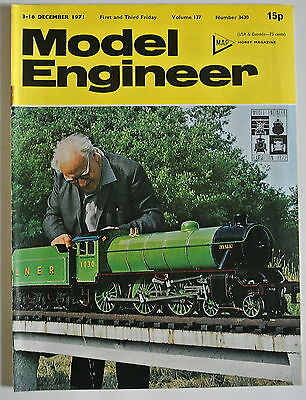 The Model Engineer Magazine. Vol. 137. No. 3430. 3-16 December, 1971. • 5.99£