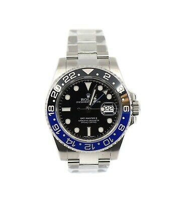 $ CDN21593.84 • Buy Rolex GMT-Master II Batman Stainless Steel Watch 116710BLNR
