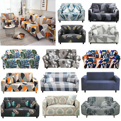 AU27.99 • Buy Sofa Covers 1/2/3/4 Seater High Stretch Lounge Slipcover Protector Couch Cover