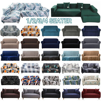 AU25.99 • Buy Sofa Covers 1/2/3/4 Seater High Stretch Lounge Slipcover Protector Couch Cover
