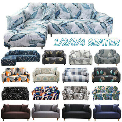 AU27.49 • Buy Sofa Covers 1/2/3/4 Seater High Stretch Lounge Slipcover Protector Couch Cover