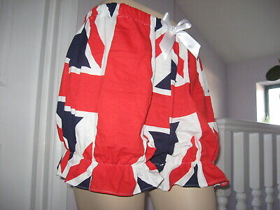 Union Jack Bloomers Shorts Sissy Pantaloons  Festival Party Fun Flag UK Adult  • 25.50£