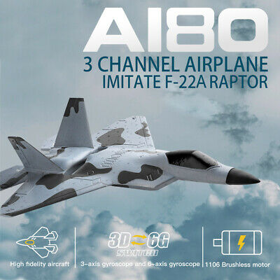 WLtoys XKS A180 F22 Raptor Plane 2.4Ghz 3CH RC RTF Airplane Aircraft Fixed Wing • 46.49£