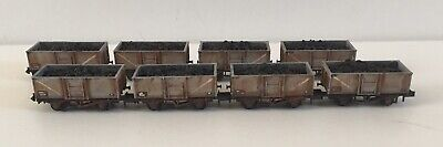 8 N Gauge Peco Steel Coal Wagons. Loaded Compatible With Farish And Dapol. B • 76.49£