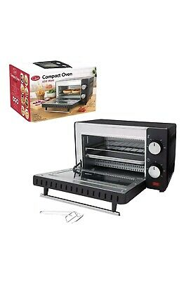 650w Mini Electric Oven Grill Toaster Black Counter Table Top Compact Caravan • 39.50£