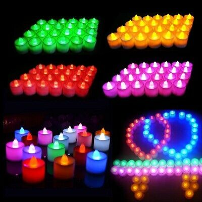 £1.44 • Buy LED Electronic Glow Candle Simulation Flame Candle Multi-color Light Party Decor