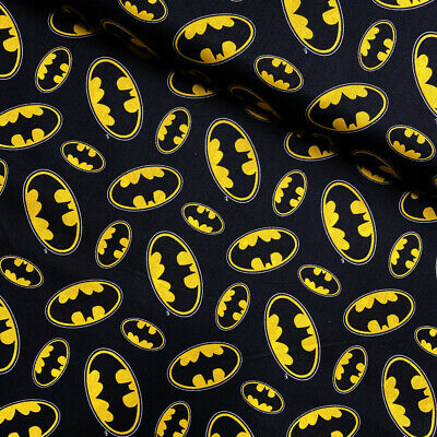 100% Cotton Fabric Camelot Batman Logo Superhero Superman • 7.50£