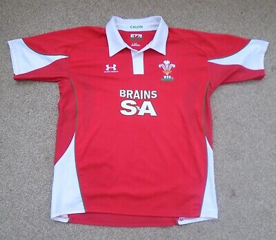 Extra Large  Mens  Wales Rugby Union Shirt Under Armour (2008) • 4.99£