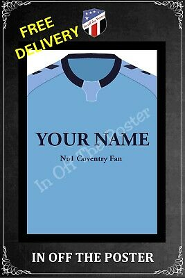 £10 • Buy Peronalised Coventry City FC Style Football A4 Poster PRINT 2020/21