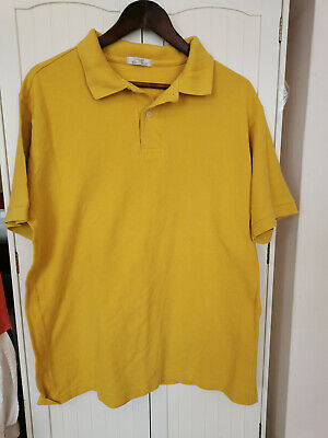 Mens St Michael Marks And Spencer Polo Shirt Gold  Size Xl 44  - 46  Chest Used • 5.99£