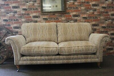 £899 • Buy Parker Knoll Burghley Large 2 Seater Sofa In Natural Medallion Fabric