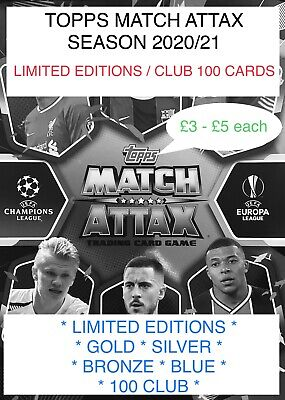 2020/21 Topps Match Attax Limited Edition & 100 Club Cards  • 5£