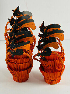 $ CDN198.20 • Buy Vintage Halloween Lot (9) Die Cut Witch Nut Cups Baskets RARE