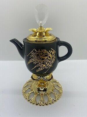 #11 Arabic Black Tea Pot  Burner Bakhoor Incense Oud Holder Round • 20£