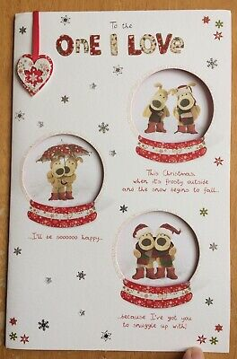 """'One I Love' Extra Large 3D Boofle Christmas Card - 10""""x6.5"""" - Xmas - Clintons • 4.25£"""