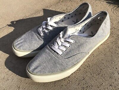 ATMOSPHERE Grey Wedge Sole Plimsolls Trainers Size 8 • 3.10£