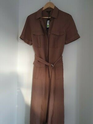Marks And Spencer Autograph Linen Dress Size 12 • 4.50£