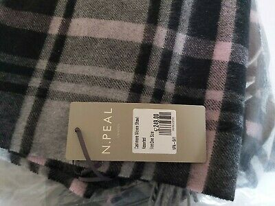 BNWT N PEAL Designer Woven Scarf 100% Cashmere  RRP £240+ • 60£