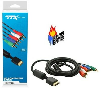 New Gold Plated Component HD AV Cable For Sony PS2 Or PS3 • 6.11£