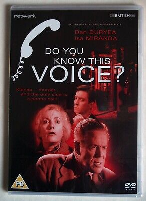 £6.99 • Buy Do You Know This Voice ? / Dan Duryea / 1964 British Noir / New Sealed / R2 Pal