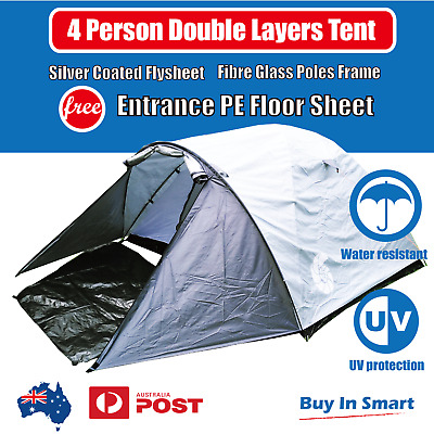 AU69.99 • Buy 4 Person Tent Canopy Shelter Waterpoof Double Layers Camping Outdoor Picnic