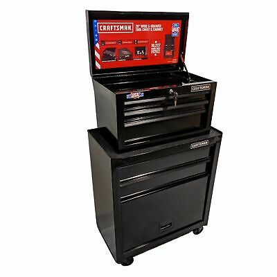 View Details CRAFTSMAN 1000 Series 5-Drawer Ball-Bearing Steel Tool Chest Toolbox COMBO NEW • 226.99$