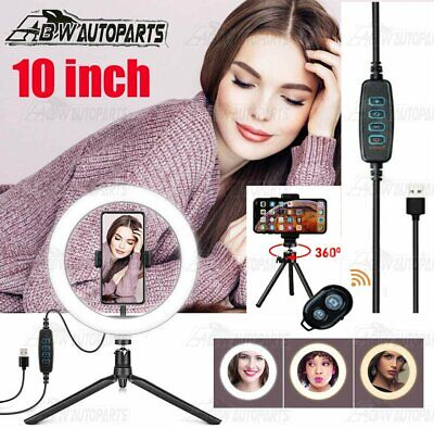 AU22 • Buy 10  Selfie LED Ring Light With Tripod Stand For Phone Live Stream Makeup Desktop